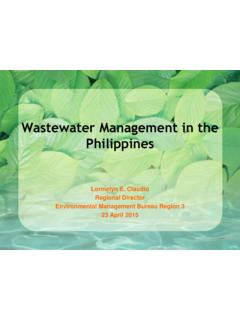 Wastewater Management in the Philippines - WIPO