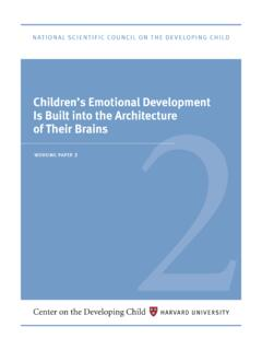 Children's Emotional Development Is Built into the ...