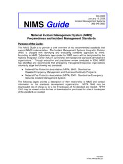 National Incident Management System (NIMS) …
