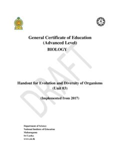 General Certificate of Education (Advanced Level) - nie.lk