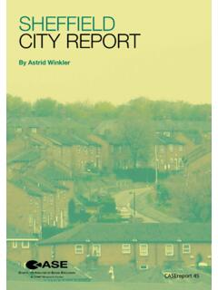 Sheffield City RepoRt - Welcome to LSE Research Online