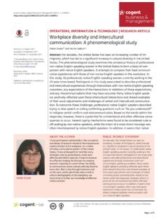 Workplace diversity and intercultural communication: A ...