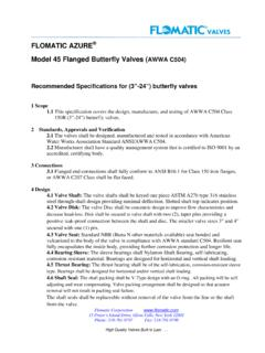 FLOMATIC AZURE Model 45 Flanged Butterfly …