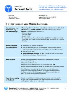 It is time to renew your Medicaid coverage.