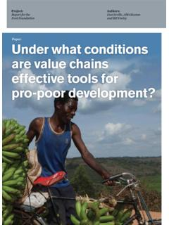 Under what conditions are value chains effective tools for ...