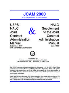 JCAM 2000 with September, 2001 Updates, and NALC …