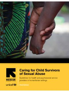 Caring for Child Survivors of Sexual Abuse