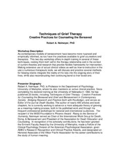 Techniques of Grief Therapy Creative Practices for ...
