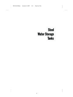 Steel Water Storage Tanks - American Water Works …