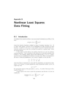 Nonlinear Least Squares Data Fitting