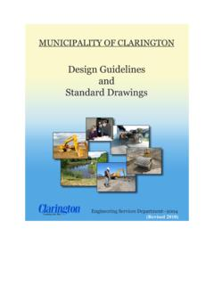 Design Guidelines and Standard Drawings - Clarington