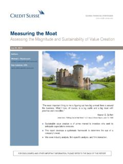 Measuring the Moat - csinvesting