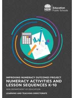 IMPROVING NUMERACY OUTCOMES PROJECT …