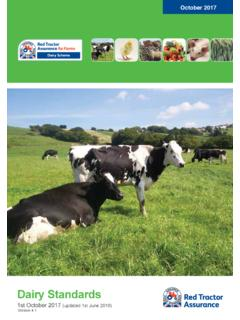 Dairy Standards - assurance.redtractor.org.uk
