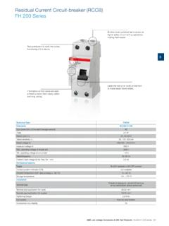 Residual Current Circuit-breaker (RCCB) FH 200 Series