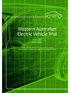 Western Australian Electric Vehicle Trial - The REV Project