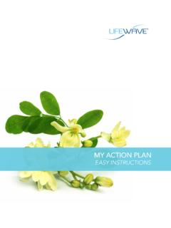 My Action Plan Easy Instructions - LifeWave