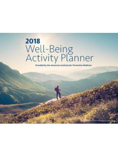 2018 Well-Being Activity Planner - Wellness Newsletters