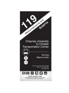 Cheyney University to Chester Transportation Center - …