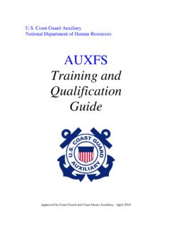 Training and Qualification Guide - United States …