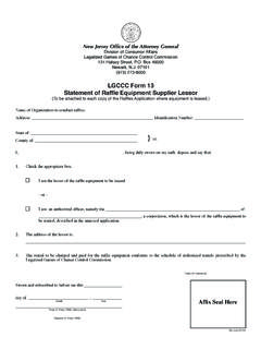 LGCCC - Form 13 - New Jersey Division of Consumer Affairs