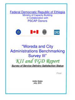 "Survey III"" KII and FGD Report"