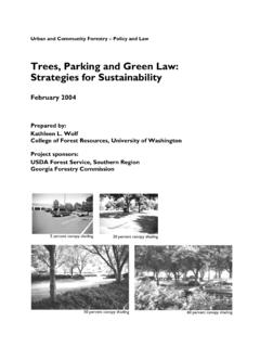 Trees, Parking and Green Law: Strategies for Sustainability