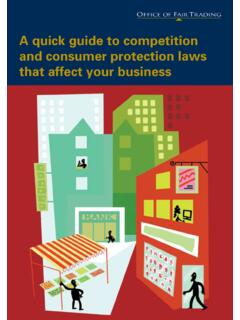 A quick guide to competition and consumer protection …