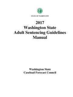 STATE OF WASHINGTON 2017 Washington State …