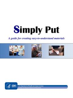Simply Put - Centers for Disease Control and Prevention