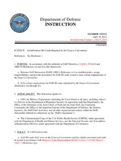 Department of Defense INSTRUCTION - CAC