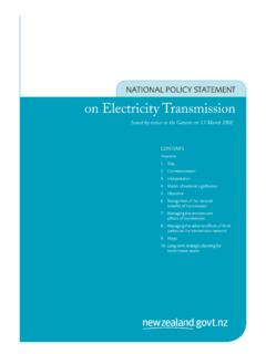 NATIONAL POLICY STATEMENT on Electricity Transmission