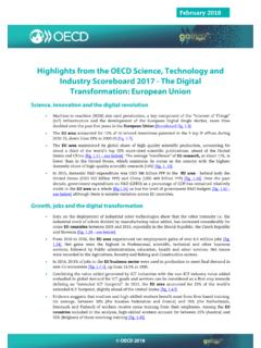 Highlights from the OECD Science, Technology and …