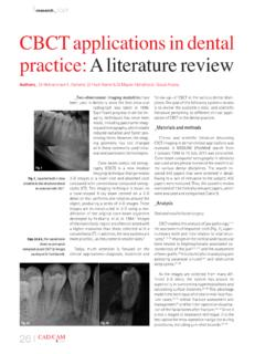 research CBCT CBCT applications in dental …