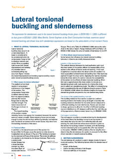 Lateral torsional buckling and slenderness