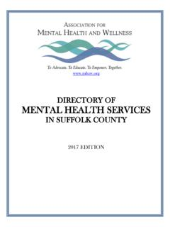 DIRECTORY OF MENTAL HEALTH SERVICES