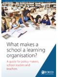 What makes a school a learning organisation? - …