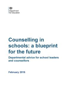 Counselling in schools: a blueprint for the future