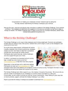 What is the Holiday Challenge? - Eat Smart, Move More ...