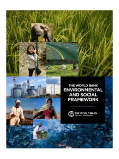 The WORLD BANK eNviRONmeNTAL AND SOciAL …
