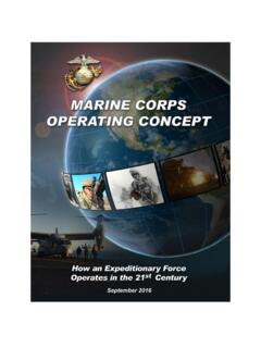 The Marine Corps Operating Concept