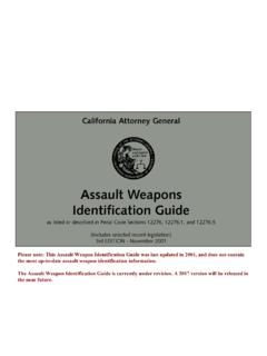 Assault Weapon Identification Guide - State of …
