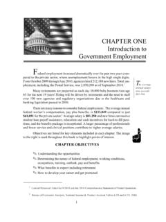 CHAPTER ONE Introduction to Government Employment