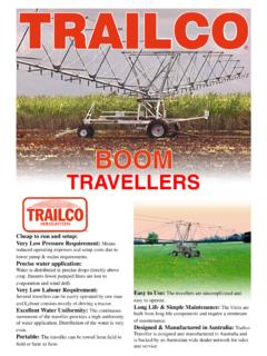 TRAVELLERS - Trailco Irrigation