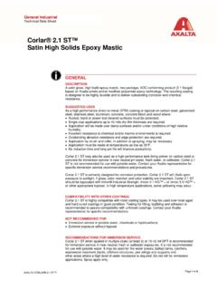 Corlar® 2.1 ST™ Satin High Solids Epoxy Mastic