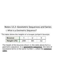 Notes 12.2: Geometric Sequences and Series - CVUSD Home
