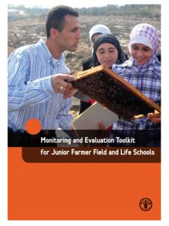Monitoring and Evaluation Toolkit for Junior …