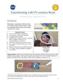Experimenting with UV Sensitive Beads - Stanford University