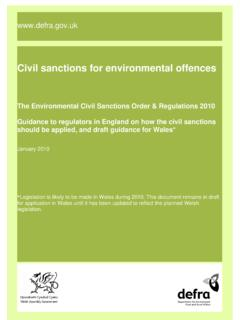 Civil sanctions for environmental offences - FWR …