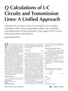 Q Calculations of L-C Circuits and Transmission Lines: A ...